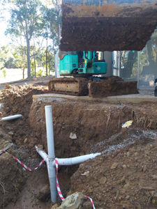 sewer shaft installation - Watanobbi , Wyong
